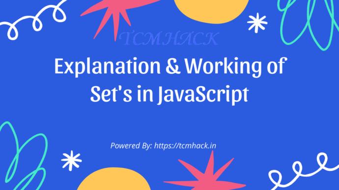 Set's in JavaScript